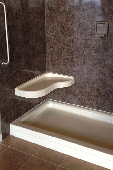 Shower Base With Bench by Cultured Marble Corner Shower Benches The