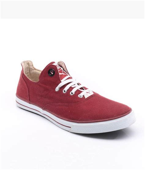 maroon canvas shoes price in india buy maroon