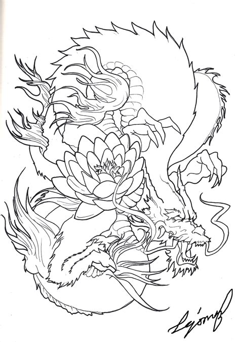 Oriental Tattoo Stencils | japanese dragon by drito on deviantart