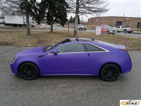 purple cadillac cts cadillac cts matte purple wrap vehicle customization