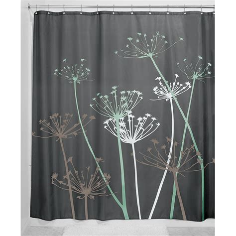 thistle shower curtain interdesign thistle fabric shower curtain 183 x 183 cm