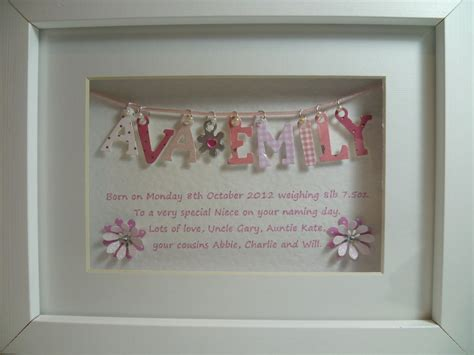 Personalised Handmade Gifts - personalised 3d box frame baby 3d box
