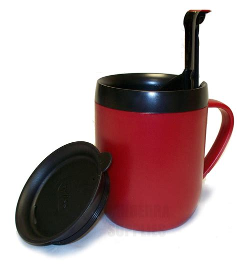 ZYLISS SMART CAFE ONE CUP COFFEE CAFETIERE HOT MUG WITH SPLASH LID   RED   eBay