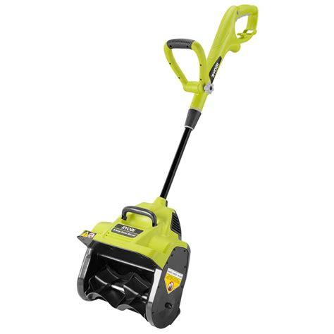 ryobi 12 in 8 corded electric snow blower shovel