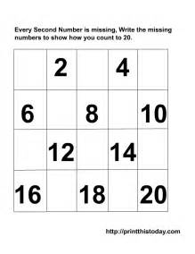 counting 1 20 worksheet scalien