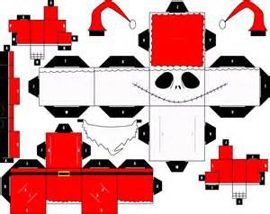 Skellington Papercraft - santa cubeecraft by shonadh01 on deviantart