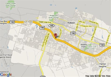 killeen texas map map of 8 motel killeen killeen