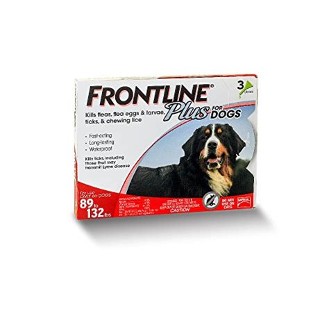 frontline flea and tick for dogs best frontline plus flea and tick for dogs 89 132 lbs 3 mo supply reviews