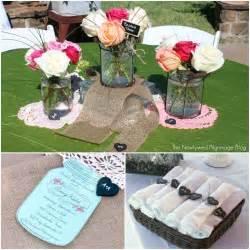 shabby chic wedding shower decorations shabby chic bridal shower jars chalkboard burlap