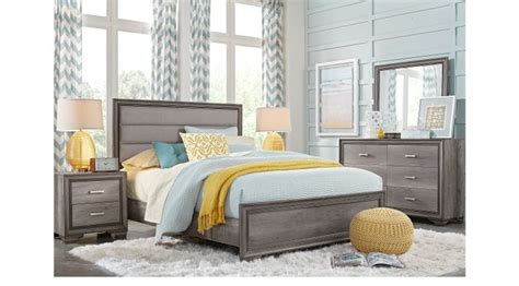 Rooms To Go Quality by Marlow Gray 5 Pc Panel Bedroom Transitional