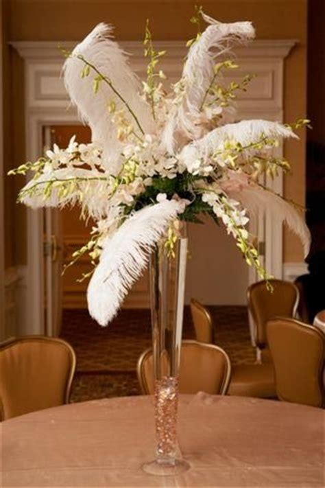 Ostrich Feathers Centerpieces Pinterest Centerpieces With Feathers And Flowers