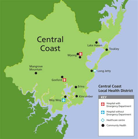 central coast australia map about us