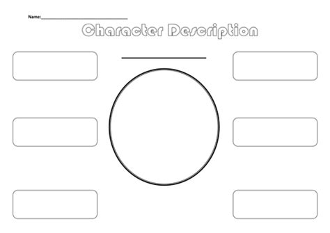 character description template ks1 template for character description by asharp22 teaching