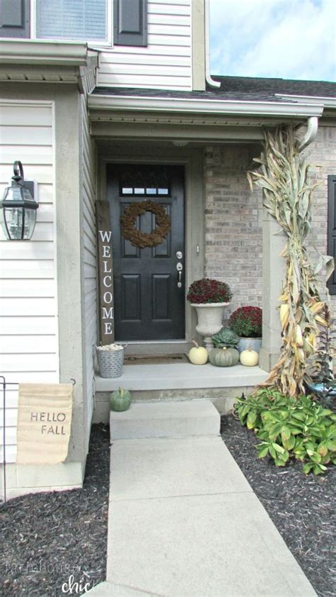 Front Door Patio Ideas Welcome Fall Small Front Porch From Farmhouse Chic Best Diy Ideas