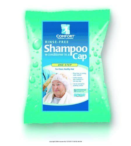 comfort rinse free shoo cap comfort bath rinse free shoo and conditioner cap