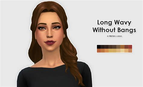 sims 4 long wavy hair without bangs my sims 4 blog kiara24 long wavy without bangs hair