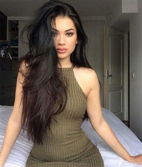 dark haired beautiful women modeling clothes best 25 long dark hair ideas on pinterest long brown