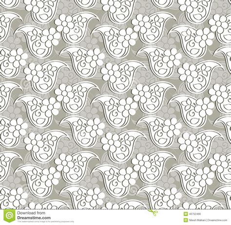 paisley seamless pattern vector paisley seamless vector pattern stock vector image 40752466