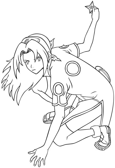 sakura coloring pages naruto free anime boy face coloring pages