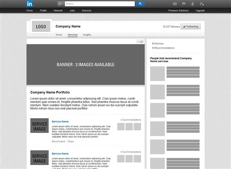 Linkedin Page Template linkedin blank profile template gallery