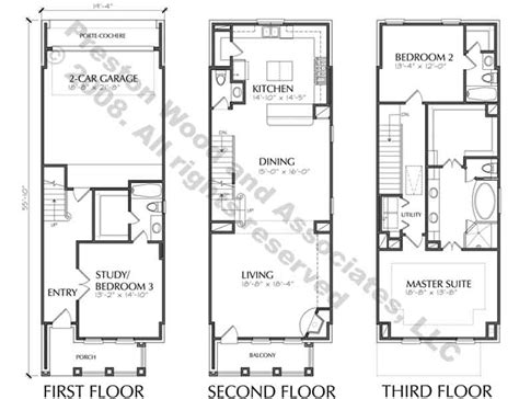town houses plans townhouse plan d5214 2383