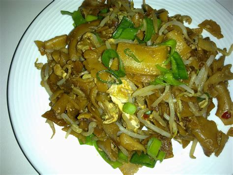 home engineering at work flat rice noodles char kway teow