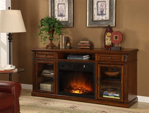 homelegance ruby tv stand with electric fireplace 8106