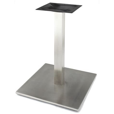 stainless steel table bases dining rsq540 stainless steel table base tablebases