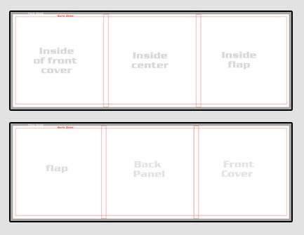 tri fold photo card template 5x5 trifold card template for blossom publishing basic