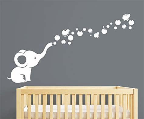 Elephant Bubbles Nursery Wall Decal Room Decor White Nursery Elephant Decor