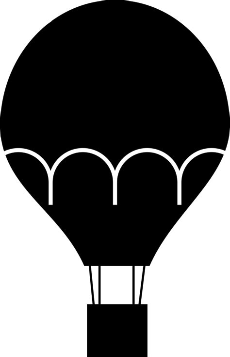 hot air balloon svg png icon