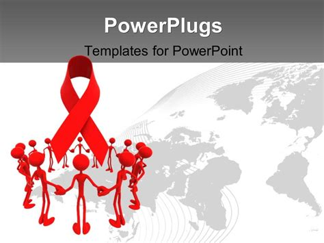 Powerpoint Template A Number Of People In A Circle With Aid Powerpoint Template