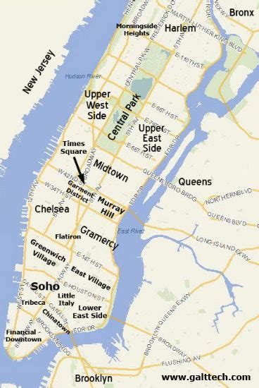 sections of new york new york city map new york neighborhood map