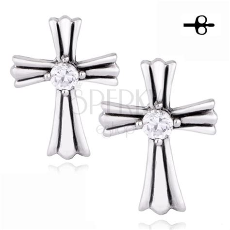 what is surgical steel made of earrings made of surgical steel decorated cross