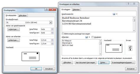 Etiketten Uitprinten Excel by Kerstenveloppen Maken In Word 2010 Apps Software