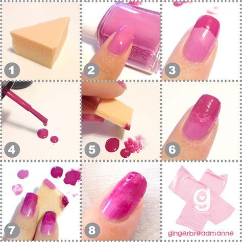 easy nail art using sponge diy sponge nails