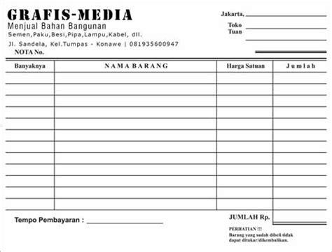 Contoh Bukti Pembayaran by 20 Contoh Dan Ukuran Nota Bukti Pembayaran Grafis Media