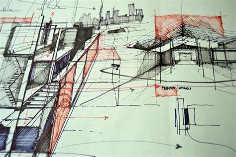 design concept for public market barch hons y4 architectural journal on pantone canvas