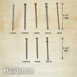 the letter 'd' in nail sizes | the family handyman