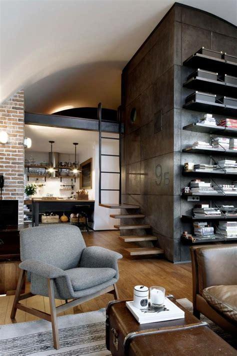 le industrial style d 233 co loft industriel un studio en brique et bois 224