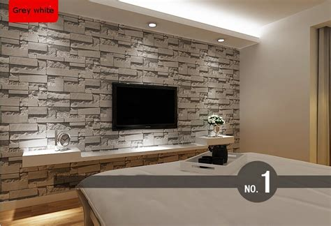 Living Room With Brick Effect Wallpaper Aliexpress Buy Stacked Brick 3d Effect