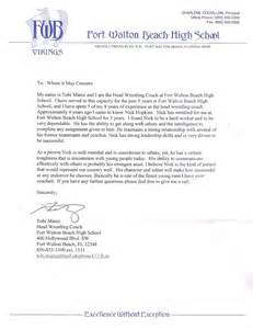 College Letter Of Recommendation Athlete Nicholas A Student Athlete