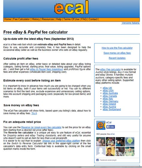 ebay fees uk ebay paypal fees calculator uk