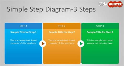 Free Simple Step Diagram For Powerpoint Step By Step Template