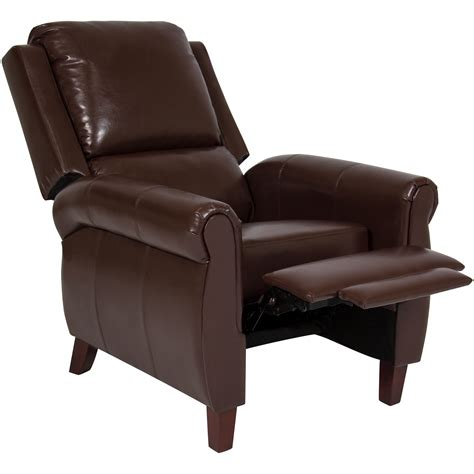 best recliners for back best choice products leather recliner chair push back home