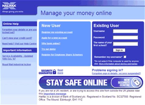 halifax bank on line halifax bank banking login page and sign in