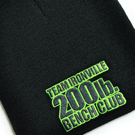 200 bench press 200 pound bench press club beanie skull cap ironville clothing