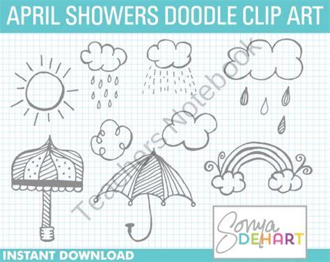 daily marcie doodle april showers doodles doodle