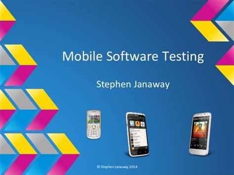 mobile testing software tester gathering workshops mobile software