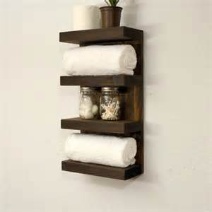 Bathroom Wall Towel Storage Bathroom Towel Rack 4 Tier Bath Storage By Rusticmoderndecor